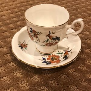 Crown Staffordshire Bone China Cup & Saucer